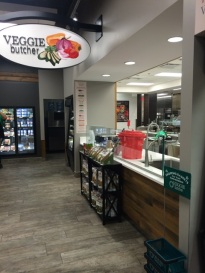 The Veggie Butcher station is one of the new offerings as a part of Boyd's transformation. Students can go up to the counter to have their fruits and vegetables prepared.