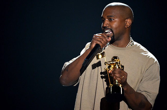 LOS ANGELES, CA - AUGUST 30:  Recording artist Kanye West accepts the Video Vanguard Award onstage during the 2015 MTV Video Music Awards at Microsoft Theater on August 30, 2015 in Los Angeles, California.  (Photo by Kevin Winter/MTV1415/Getty Images For MTV)