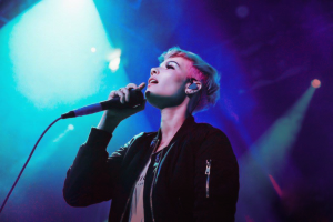 Halsey performing at Academy Islington in London. Photo courtesy of RWG.