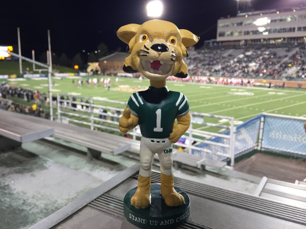 Some of the 16,138 in attendance on Senior Night received Rufus bobbleheads. (Photo by Corbin Bagford)