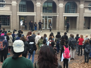 NAACP Executive board leads discussion on the events at Mizzou as well as racism on college campus. Photo by Natalie Colarossi