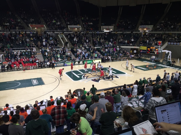 Ohio recovered from Wednesday's loss at NIU to defeat Ball State Saturday. (Photo by Corbin Bagford)