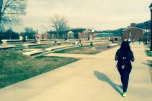 Students lounging on Ohio University's campus. Photo by Lydia Kraszewski.