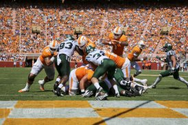 Tennessee running back Jalen Hurd's one-yard touchdown run gave the Volunteers a 14-6 lead in the second quarter. (Photo: UTsports.com).