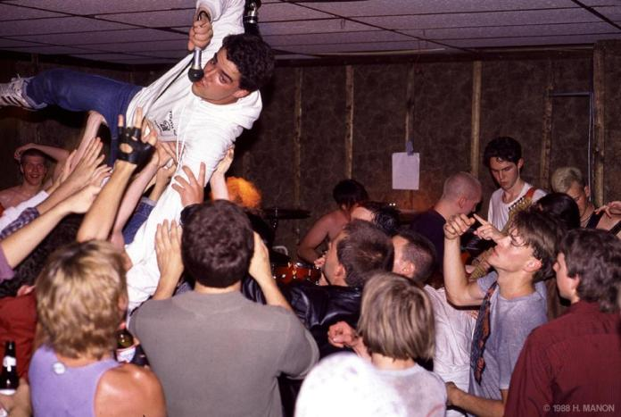 Mental Pause performing at The Union Bar & Grill, 1988. Photo by Hugh Manon.